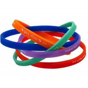 Impression bracelet silicone extra-fin